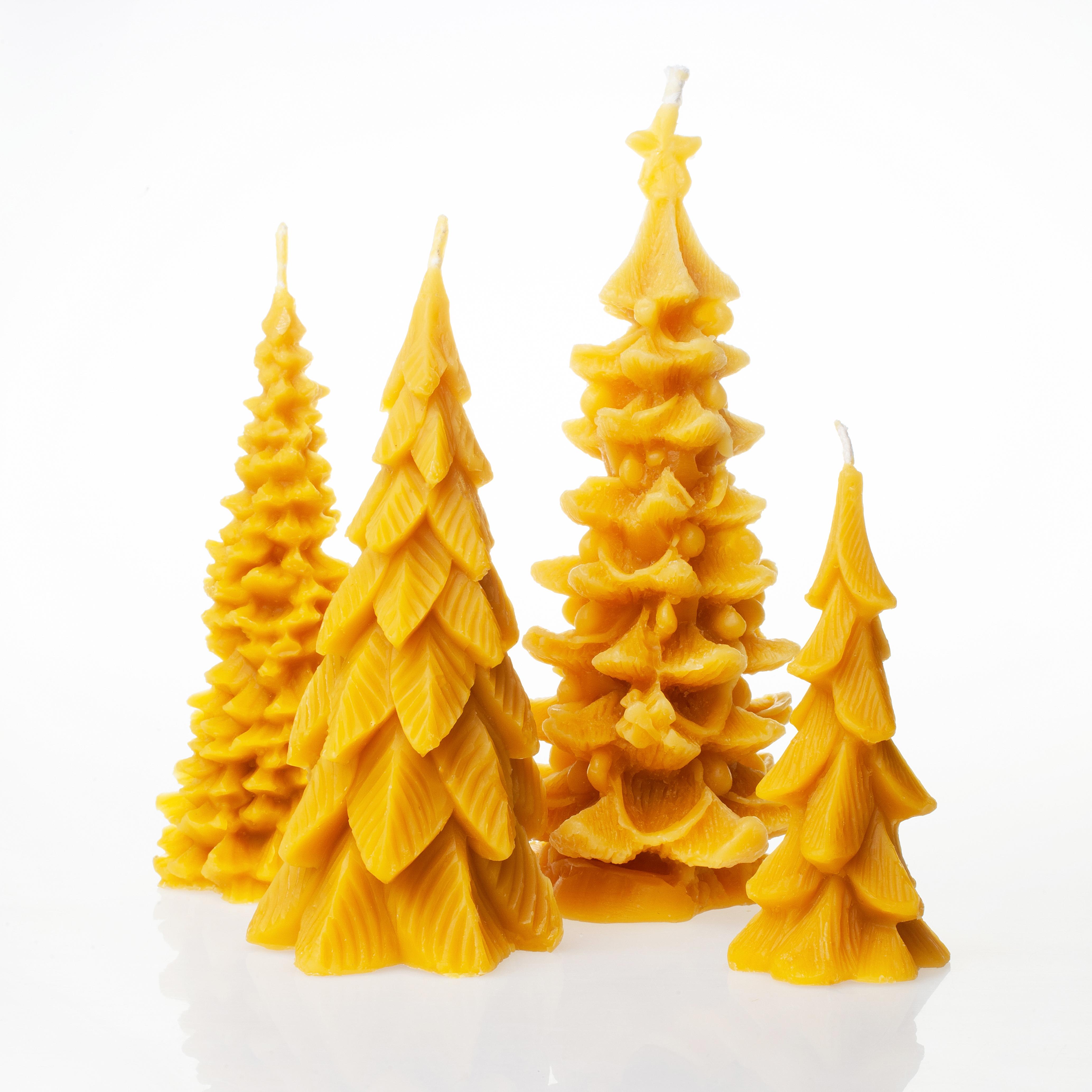 Kalėdinės natūralaus vaško žvakės